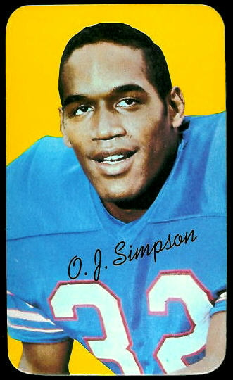 O.J. Simpson 1970 Topps Super football card