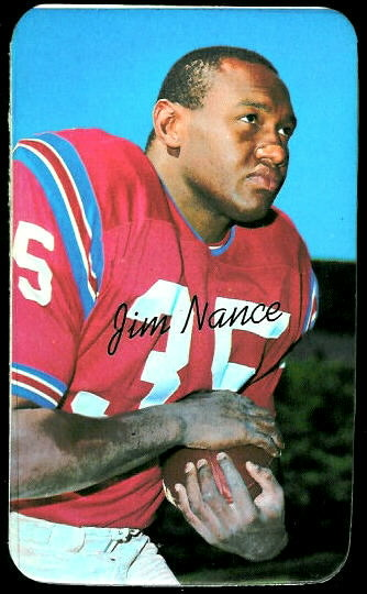 Jim Nance 1970 Topps Super football card
