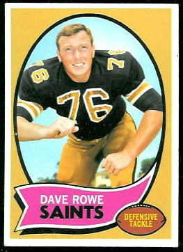 Dave Rowe 1970 Topps football card