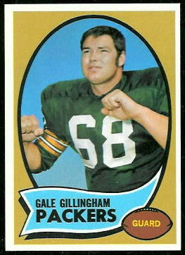 Gale Gillingham 1970 Topps rookie football card