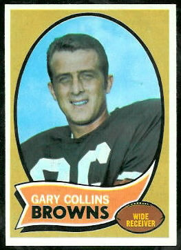 Gary Collins 1970 Topps football card