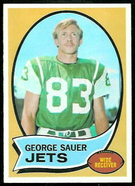 George Sauer Jr. 1970 Topps football card