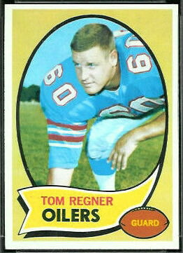 Tom Regner 1970 Topps football card