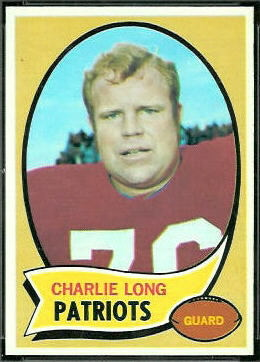 Charles Long 1970 Topps football card