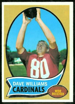 Dave Williams 1970 Topps football card