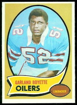 Garland Boyette 1970 Topps football card