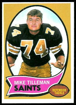 1970 Topps Mike Tilleman football card
