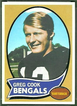 Greg Cook 1970 Topps rookie football card