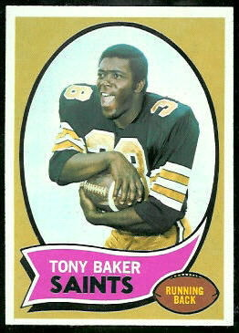 Tony Baker 1970 Topps football card