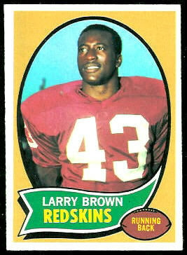 Larry Brown 1970 Topps football card