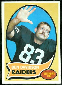 Ben Davidson 1970 Topps football card