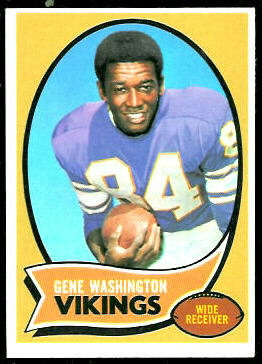 Gene Washington 1970 Topps football card