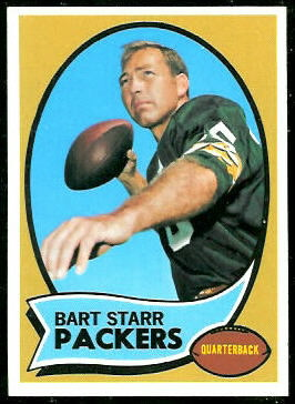 Bart Starr 1970 Topps football card