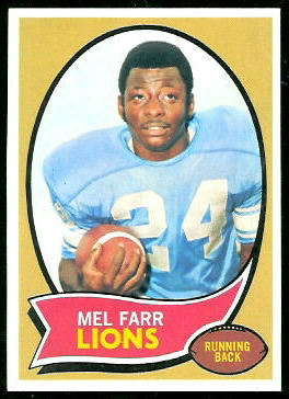 Mel Farr 1970 Topps football card