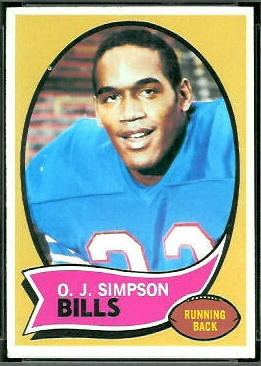 1970 Topps O.J. Simpson rookie football card