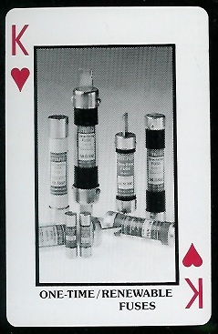 One-Time/Renewable Fuses 1970s Littelfuse Playing Cards football card