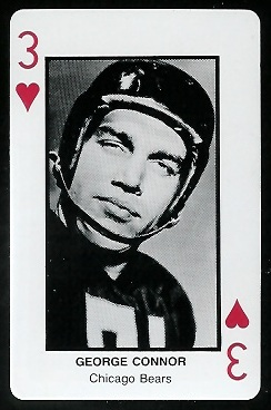 George Connor 1970s Littelfuse Playing Cards football card