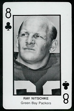 Ray Nitschke 1970s Littelfuse Playing Cards football card