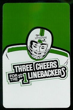 Back of Littelfuse Linebacker playing card