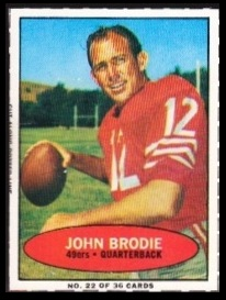 John Brodie 1971 Bazooka football card