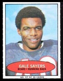 Gale Sayers 1971 Bazooka football card