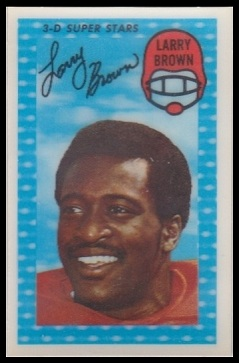 Larry Brown 1971 Kelloggs football card