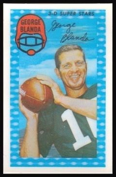 George Blanda 1971 Kelloggs football card