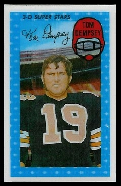 Tom Dempsey 1971 Kelloggs football card