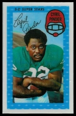 Cyril Pinder 1971 Kelloggs football card