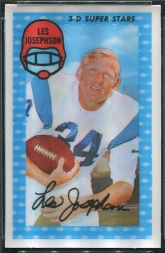 Les Josephson 1971 Kelloggs football card
