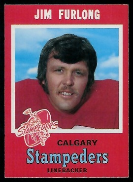 Jim Furlong 1971 O-Pee-Chee CFL football card