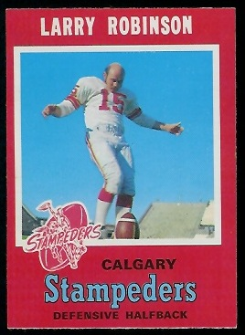 Larry Robinson 1971 O-Pee-Chee CFL football card