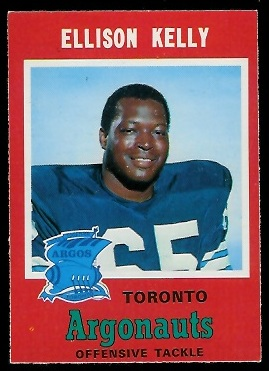 Ellison Kelly 1971 O-Pee-Chee CFL football card