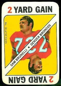 Sam Brunelli 1971 Topps Game football card