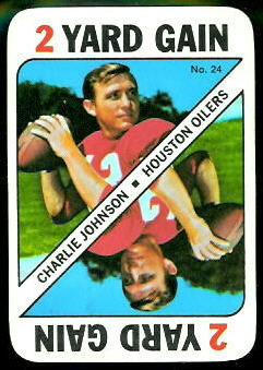 Charley Johnson 1971 Topps Game football card