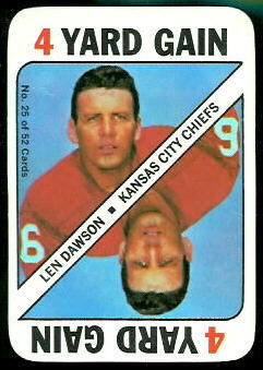 Len Dawson 1971 Topps Game football card