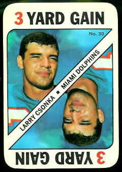 Larry Csonka 1971 Topps Game football card