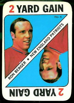 Ron Berger 1971 Topps Game football card