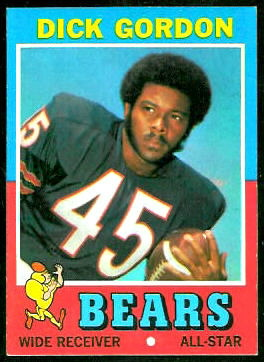 Dick Gordon 1971 Topps football card