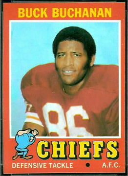 Buck Buchanan 1971 Topps football card