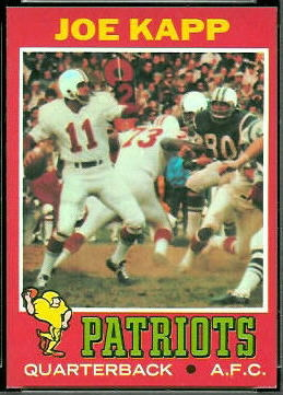 Joe Kapp 1971 Topps football card