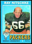 Ray Nitschke 1971 Topps football card
