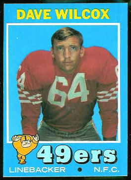 Dave Wilcox 1971 Topps football card