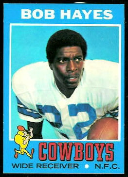Bob Hayes 1971 Topps football card