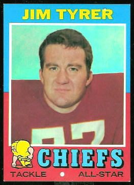 Jim Tyrer 1971 Topps football card