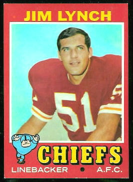 Jim Lynch 1971 Topps football card