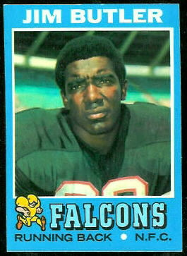 Jim Butler 1971 Topps football card