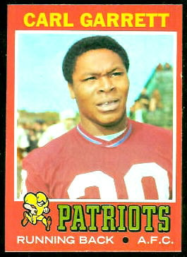 Carl Garrett 1971 Topps football card