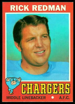 Rick Redman 1971 Topps football card