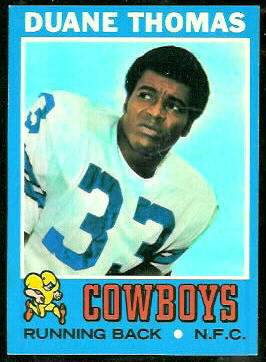 Duane Thomas 1971 Topps football card